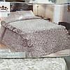Льняное покрывало - плед с рюшами (210 на 230 см)