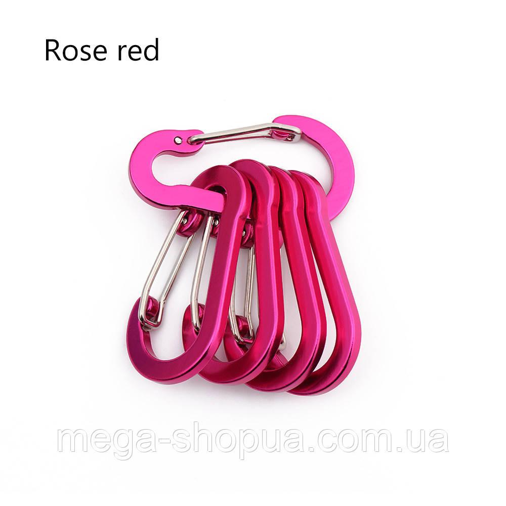 Карабин походный. Карабин алюминиевый 50 мм (Розовый)