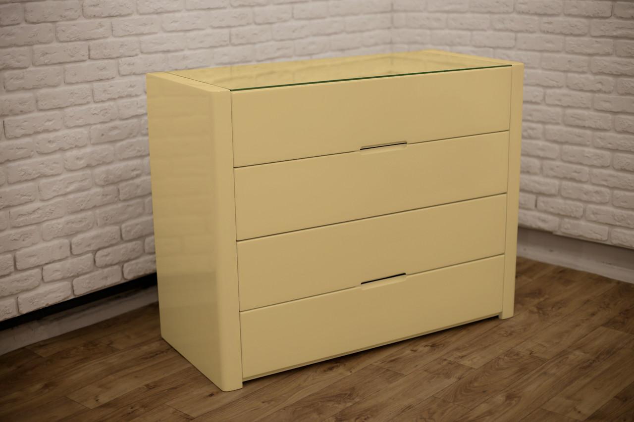 """Песочно-жёлтый деревянный комод """"Орео"""" в спальню"""