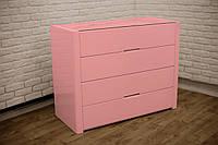 """Розовый антик деревянный комод """"Орео"""" в спальню"""