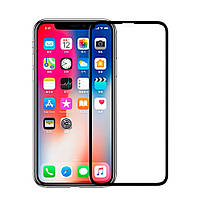 Защитное стекло для Apple iPhone XS Max (2018) (6.5) (0.3 мм, 5D) черное