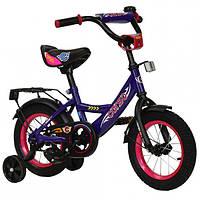 """Велосипед детский двухколесный 12 """" дюймов Corso фиолетовый"""
