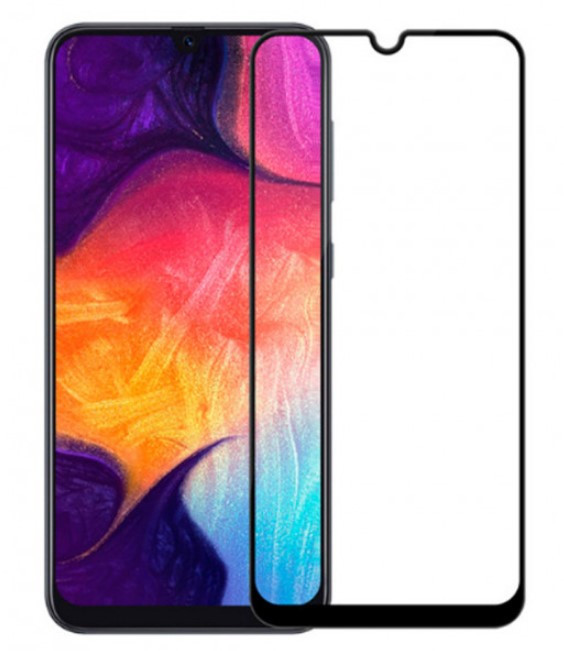 Захисне скло Samsung A105 Galaxy A10 (2019) Full Glue (0.3 мм, 2.5 D) чорне