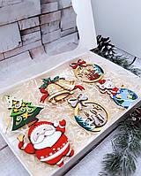 Новогодний набор деревянных игрушек на елку №10