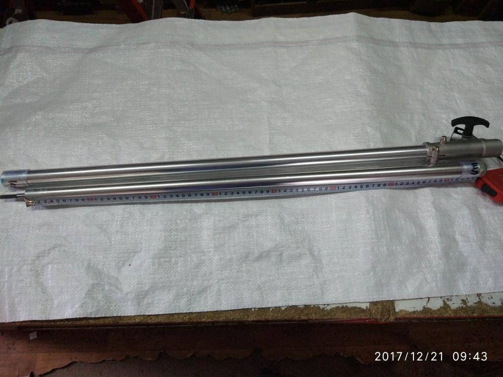 Вал в зборі дві частини + з'єднувач 7 шліців діаметр 26 мм для мотокоси
