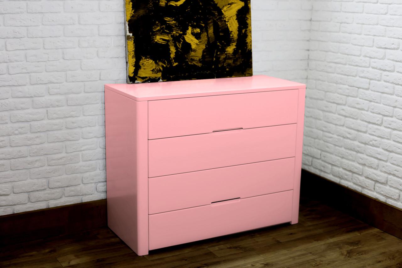 """Новий комод """"Орео-2"""" з дерева рожевий Колір антик"""