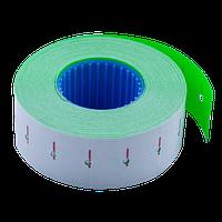 Ценник Buromax 22x12 мм прямоугольный внутренняя намотка 1000 шт 12 м зелёный