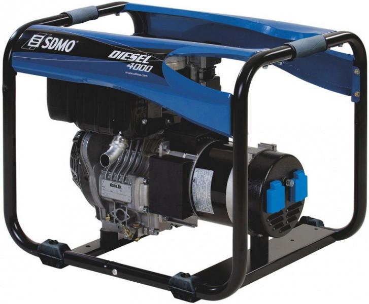 Однофазный дизельный генератор SDMO Diesel 4000 E XL C M (3,4 кВт)
