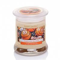 "Свічка ароматична скло ""Christmas Orange""260г Новогодняя свеча"