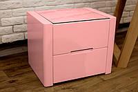 """Прикроватная тумбочка """"Орео"""" из натурального дерева цвет Розовый антик"""
