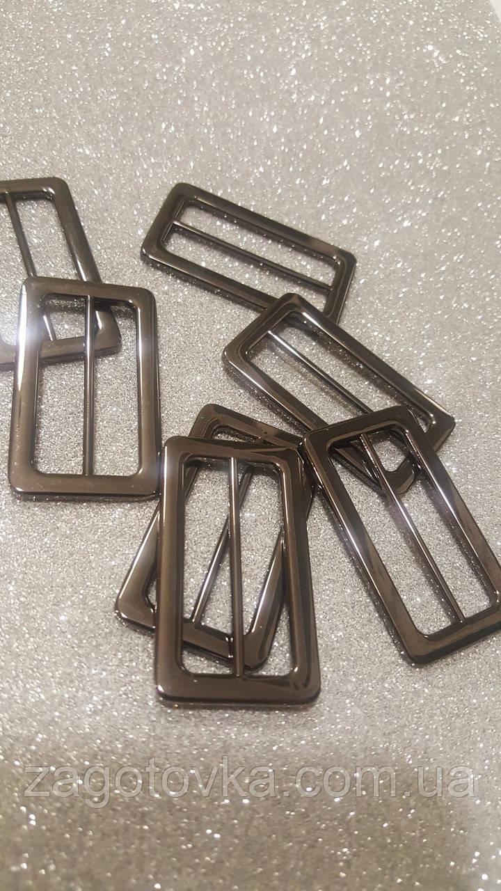 Рамка металлическая литая Цвет Черный никель 38мм