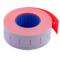 Ценник Buromax 22x12 мм прямоугольный внутренняя намотка 1000 шт 12 м красный