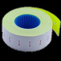 Ценник Buromax 22x12 мм прямоугольный внутренняя намотка 1000 шт 12 м жёлтый