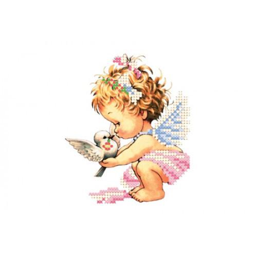 Вышивка схема бисером, Канва детская Ангелы  Ангел