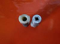 Втулка перехідник між тросами алюміній для мотокіс, фото 4