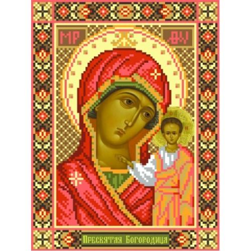 Вышивка иконы крестом,Канва схемы религия нитками Казанская Божья Матерь