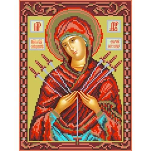 Вышивка крестом, религия, Иконы нитками Умягчение злых сердец