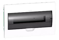 Щит розподільчий білий, двері прозора, на 18 модулів IP40, Schneider Electric Easy9 Врізний