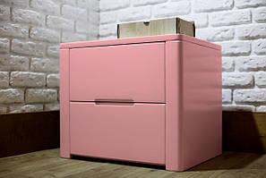 """Розовый антик прикроватные тумбочки """"Орео-2"""" из натурального дерева"""