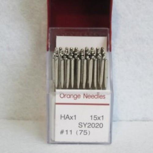 Иглы для бытовых швейной машины Оrange needles (универсальные) 75