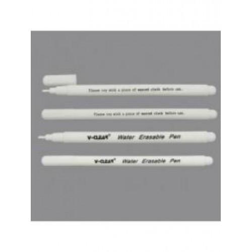 Маркер смываемый для темной ткани, рисует белым