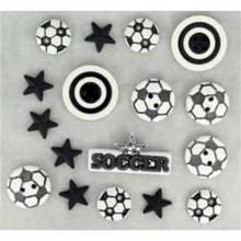 418 Декоративные пуговицы. Футбол