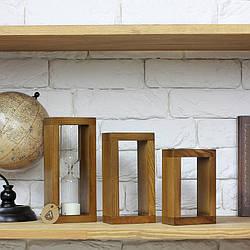 Набір декору Часи пісочні, декоративні  дерев'яні рамки горіх