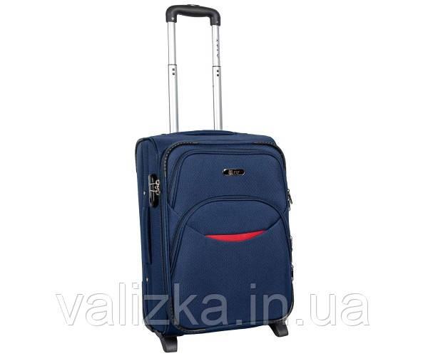 Малый тканевый чемодан для ручной клади на 2-х колесах 1708- S синий