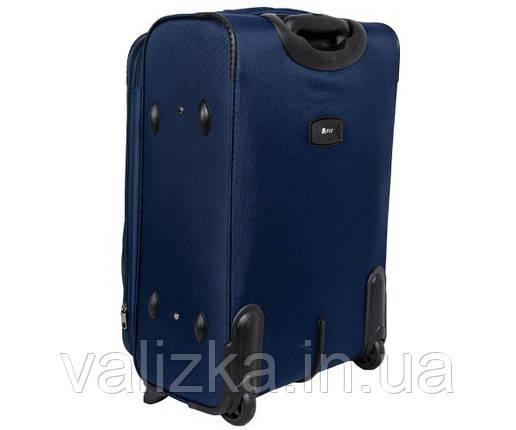 Малый тканевый чемодан для ручной клади на 2-х колесах 1708- S синий, фото 2