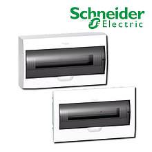 Щит розподільчий білий, двері прозора, на 18 модулів IP40, Schneider Electric Easy9