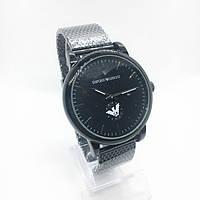 Мужские наручные часы Emporio Armani (Эмпорио Армани), черные ( код: IBW266B )