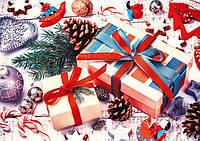 """Бумажный новогодний пакет для подарков """"Гигант горизонтальный"""""""