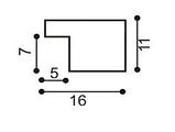 Рамка а4 из дерева - Сосна коричневая тёмная 1,5 см - со стеклом, фото 4