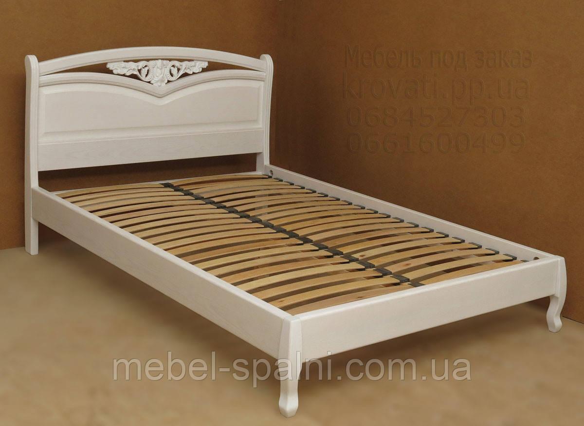 """Кровать в Полтаве деревянная двуспальная """"Анастасия"""" kr.as3.1"""