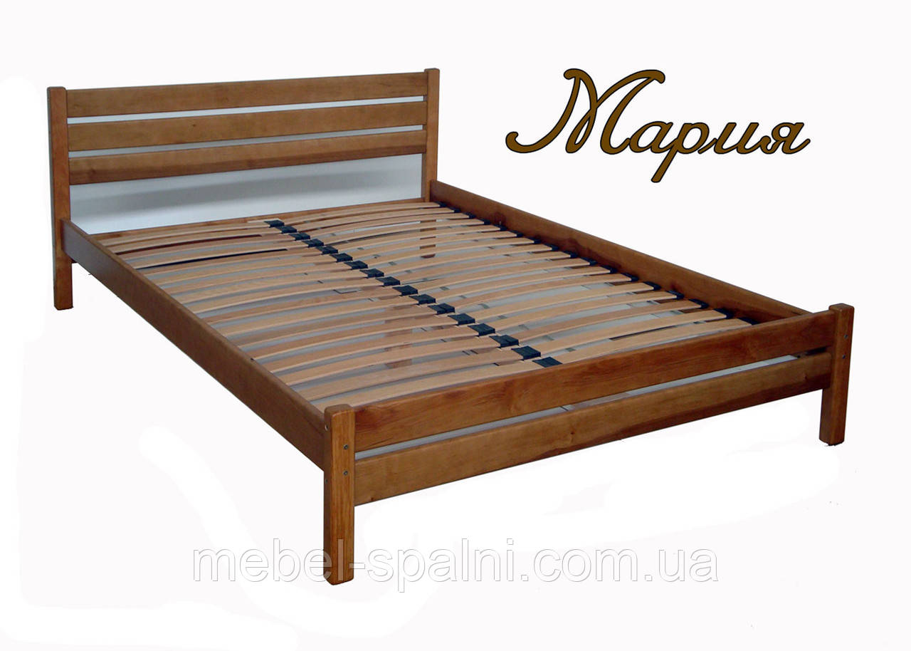 """Кровать в Полтаве деревянная полуторная """"Мария"""" kr.mr2.1"""