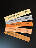Масляные точильные бруски KosiM 150/320/500/1000/1200 оксида алюминия 25 А 6 мм. Набор 5 шт.