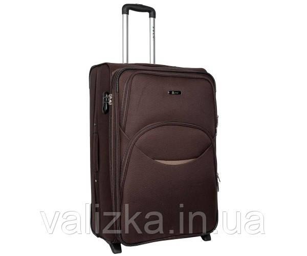 Великий тканинний валізу на 2-х колесах з розширювачем Fly коричневий