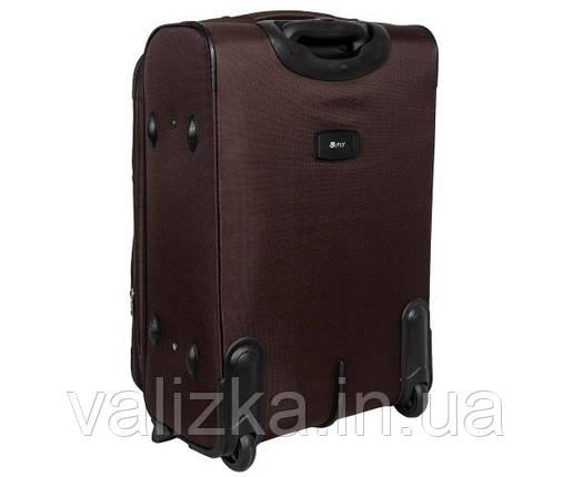 Великий тканинний валізу на 2-х колесах з розширювачем Fly коричневий, фото 2