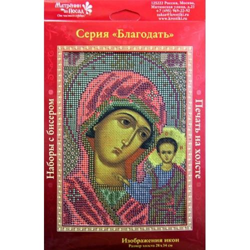Вышивка бисером, Канва Религия Казанская Божья Матерь