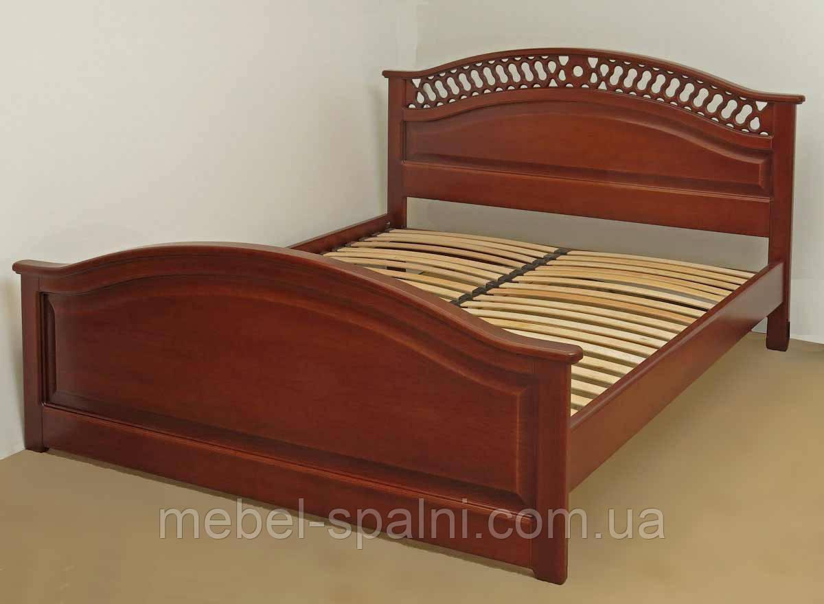 """Кровать в Полтаве деревянная двуспальная с изножьем """"Глория"""" kr.gl3.3"""