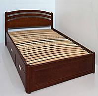"""Кровать в Полтаве деревянная односпальная с ящиками """"Натали"""" kr.nt4.1"""