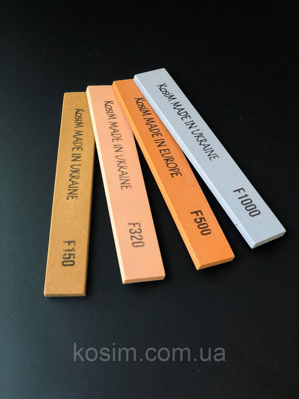 Масляные точильные бруски KosiM 150/320/500/1000 оксида алюминия 25 А 6 мм. Набор 4 шт.
