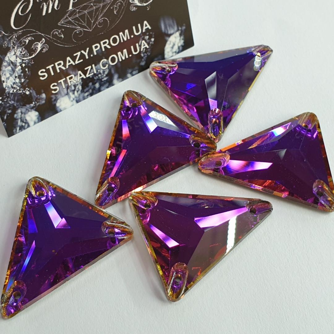 Стрази SWARO Трикутник New 18*21мм. Volcano Purple
