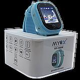 Детские смарт-часы GPS MYOX МХ-06BW Blue с камерой для детей, фото 4