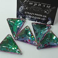 Стразы SWARO Треугольник New 25*28мм. Heliotrope