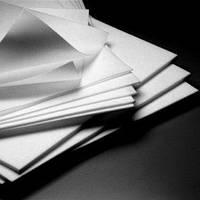 Фторопласт листової Ф-4, товщина 50,0 мм, розмір листа 1000х1000 мм ТУ 6-05-810-88