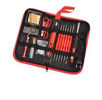 Паяльный набор в футляре 220V 60W 6761 22 предмета, красный