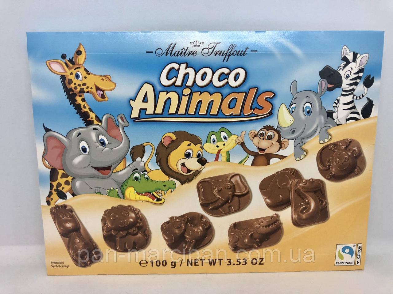 Цукерки Maitre Truffout Choco Animals 100г