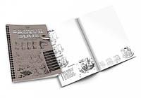 Тетрадь Альбом Блокнот для рисования с эскизами 20*14 см SKETCH BOOK Danko Toys с карандашами