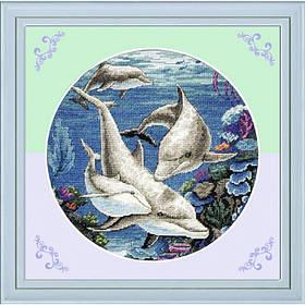 "Тварини ""Дельфіни"" 45х45см 11СТ"